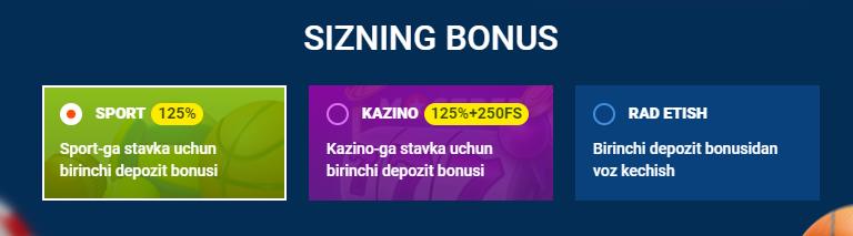 Mostbet bonuslari